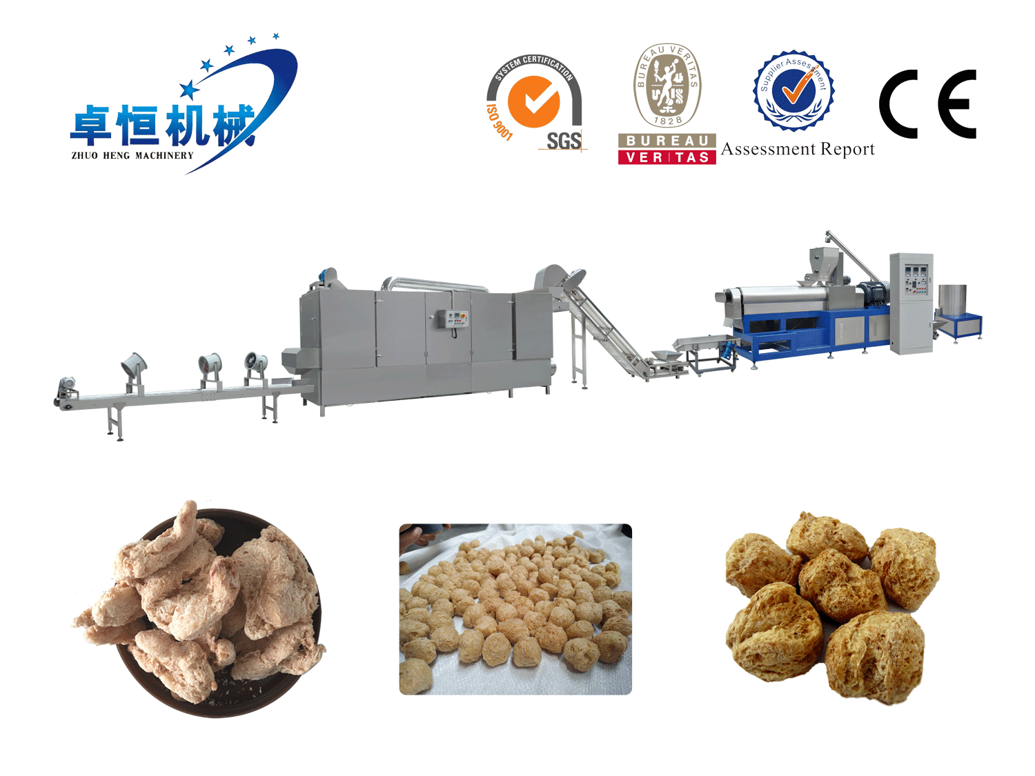 Textured soya protein (TVP) Food Processing Line