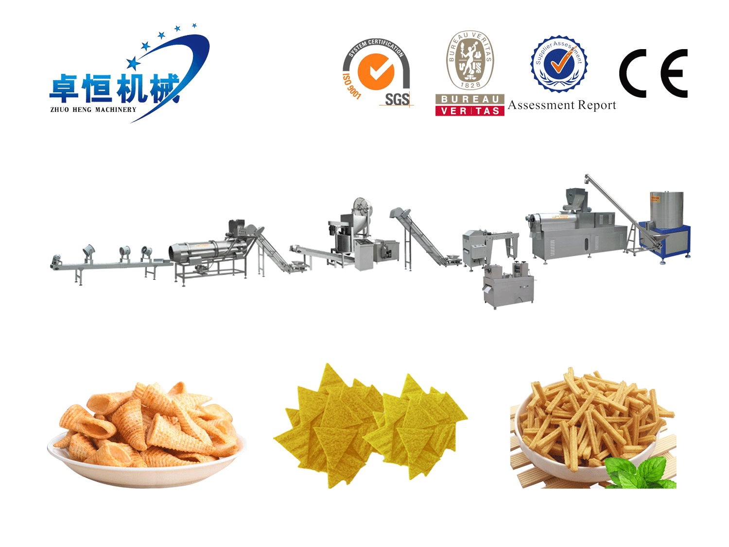 Salad, Bugles,Tortilla chips Processing Line