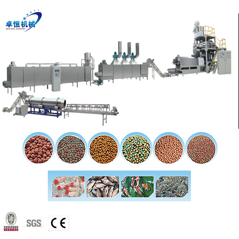 Full automatic floating/Sinking fish feed dod pet food production line extruder machine