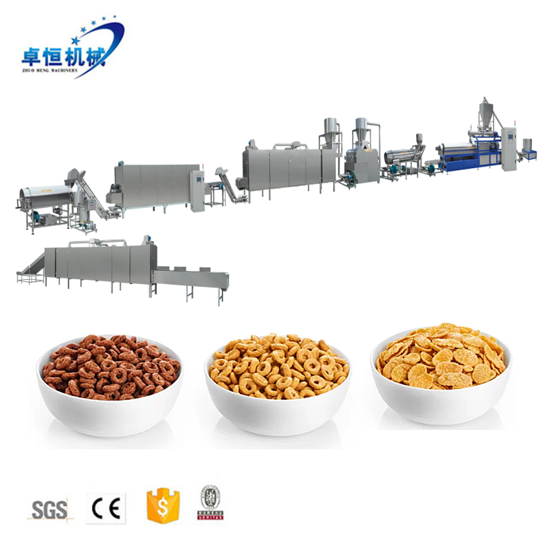 Factory Price Extrusion Breakfast Cereal Corn Flakes extruder machine line