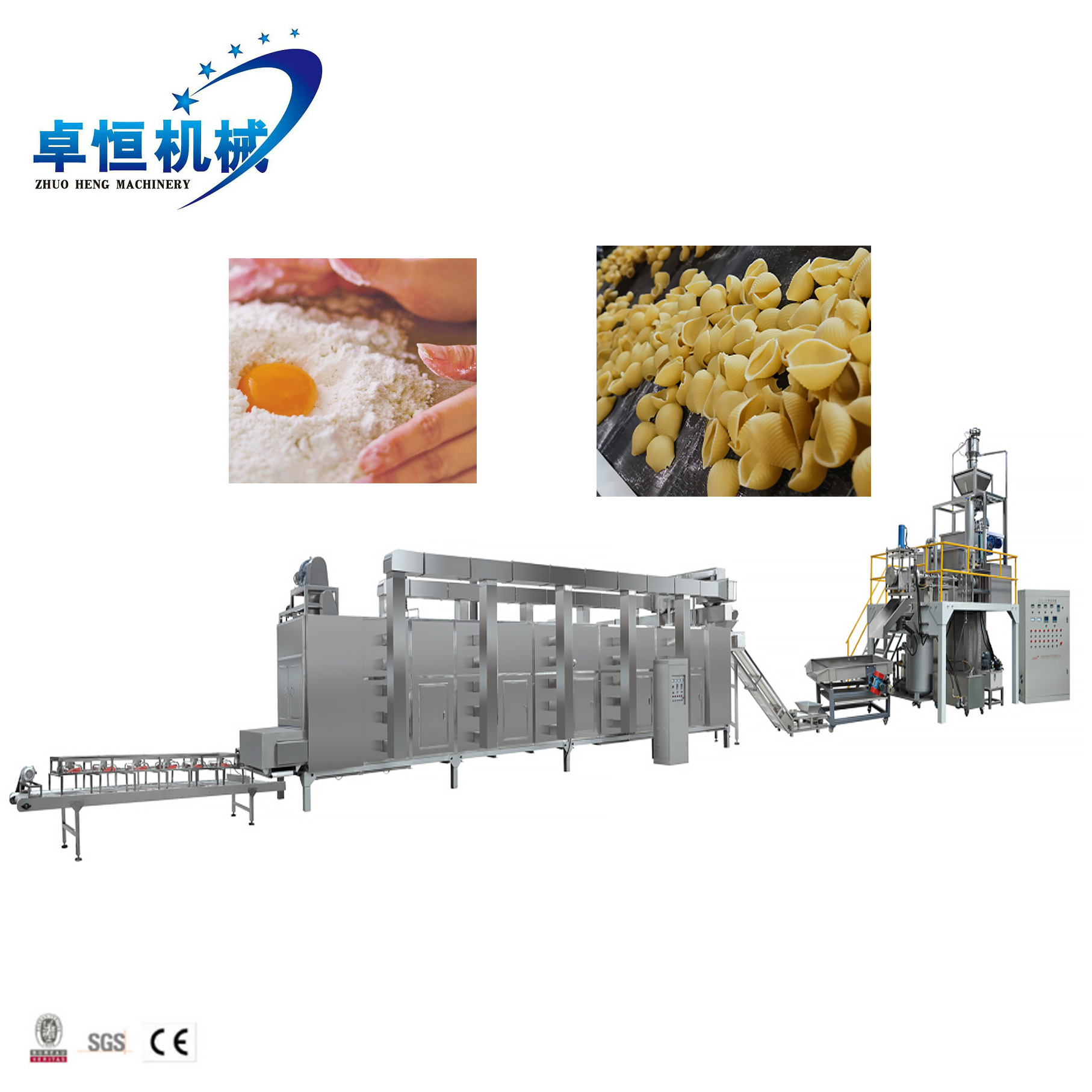 China CE manufactory macaroni /pasta/spaghetti machine /elbow macaroni equipment
